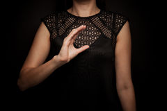 Sign Language of word. ` christ royalty free stock photo