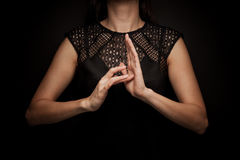 Sign Language of word Stock Photo