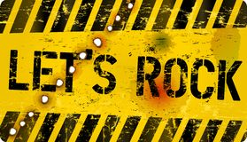 Sign Let's Rock Royalty Free Stock Photography