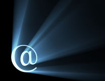 At sign letter light flare corner Royalty Free Stock Photo