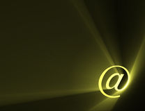 At sign email address symbol light flare Stock Image