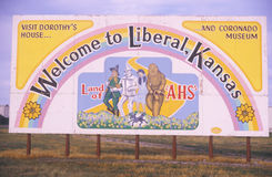 A sign for Liberal, Kansas Royalty Free Stock Images