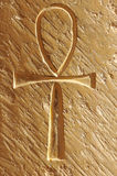 Sign of Life. Ankh the ancient egyptian sign of life, carved into an ancient egyptian temple wall Royalty Free Stock Photos