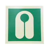 Sign lifejacket. Green sign lifejacket isolated on white background Royalty Free Stock Image
