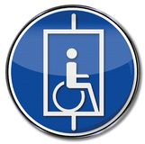 Lift for wheelchair users stock illustration