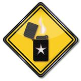 Lighter with an asterisk. Sign lighter with an asterisk Royalty Free Stock Photo