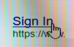 Sign in Link with Mouse pointer Stock Photography