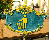 Sign Litter. Sign of Keep Clean and Litter bin Royalty Free Stock Photos