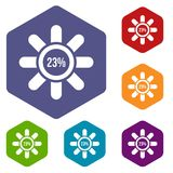 Sign 23 load icons set. Rhombus in different colors isolated on white background royalty free illustration