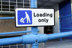 Sign, Loading Only Royalty Free Stock Photo