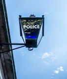 Sign for the london police on a street lamp Royalty Free Stock Photos