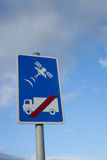 Satellite sign. Royalty Free Stock Photo