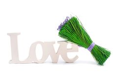 Sign of love with a bunch Royalty Free Stock Photos