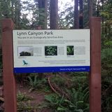 Sign of Lynn Canyon Park royalty free stock images