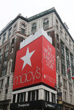 Sign at Macy`s Herald Square on Broadway in Manhattan. NEW YORK - APRIL 4, 2017: Sign at Macy`s Herald Square on Broadway in Manhattan. In 1924 Macy`s was Stock Photos