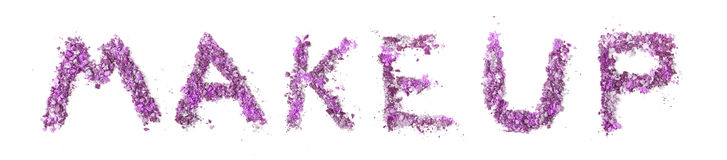 Sign Make-up. Made of crushed eye shadows Royalty Free Stock Images