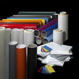 Sign making materials stock images