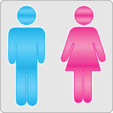 Sign male and female. Vector EPS Royalty Free Stock Photos