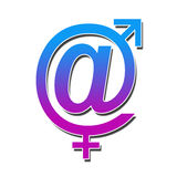 At Sign With Male Female Symbol Stock Images