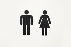 Sign male and female toilet. The sign of a public toilet Stock Photography