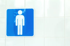 Sign male toilets Royalty Free Stock Photos