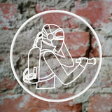 Sign of man in protective suit Royalty Free Stock Image