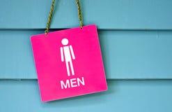 Sign man toilet Royalty Free Stock Photos