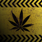 Sign of marijuana Royalty Free Stock Photos