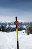 Sign marking the ski piste Royalty Free Stock Images