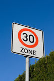 Sign maximum speed 30 Stock Image