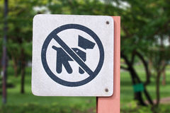 Sign meaning dogs are not allowed here Stock Photography