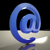 At Sign Means Communication Internet And Mail Royalty Free Stock Photo