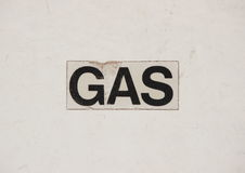 Sign med text Gas on gas installation Royalty Free Stock Image