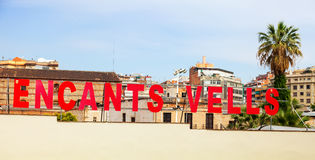 Sign at  Mercat Fira de Bellcaire  in Barcelona, Spain Royalty Free Stock Images