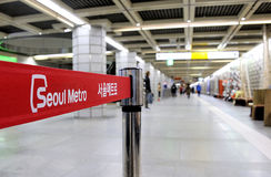 Sign in the Metropolitan Subway of Seoul Royalty Free Stock Photo