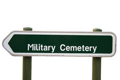 Sign military cemetery flanders fileds belgium world war Stock Photo