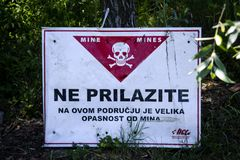 Sign for minefield Royalty Free Stock Photo