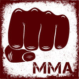 Sign MMA. My life is MMA. Vector illustration. Banner Stock Photos