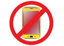 Sign. Mobile phone is not permitted Royalty Free Stock Photos