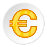 Sign of money euro icon, cartoon style Royalty Free Stock Images