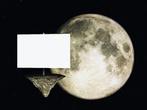 Sign and moon Stock Photography