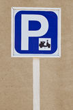 Sign of motorcycle parking zone only Stock Photo