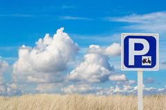Sign of motorcycle parking zone only Royalty Free Stock Photos