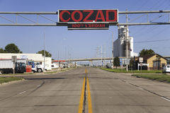 Sign that names Cozad Stock Image