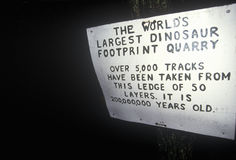 Sign at Nash Dino Land, South Hadley, Massachusetts Stock Photos