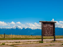 Sign from the National Bison Refuge Royalty Free Stock Photos