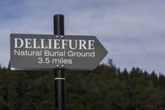 Sign for Natural Burial Grounds in Scotland. Stock Image
