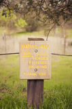 Sign of nature area. Royalty Free Stock Photography