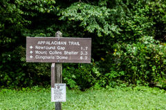 Sign near Newfound Gap, Tennessee Royalty Free Stock Images