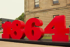 1864 sign near the Province House in Charlottetown Royalty Free Stock Photography